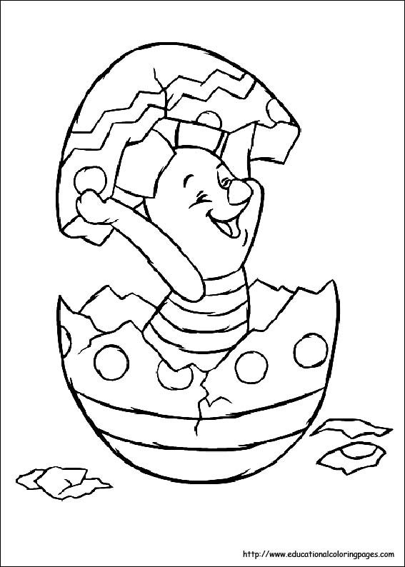 Easter Coloring Pages Disney Characters : Winnie the pooh easter coloring page piglet