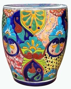 Strange Talavera Garden Bench Traditional In 2019 Talavera Pottery Machost Co Dining Chair Design Ideas Machostcouk