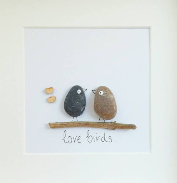 Photo of Pebble Art Picture Valentine's Day Wedding Engagement Anniversay framed personalized