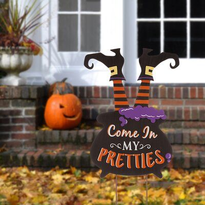 The Holiday Aisle Halloween Wooden Witch Garden Stake Halloween Yard Signs Halloween Yard Decorations Halloween Yard Art