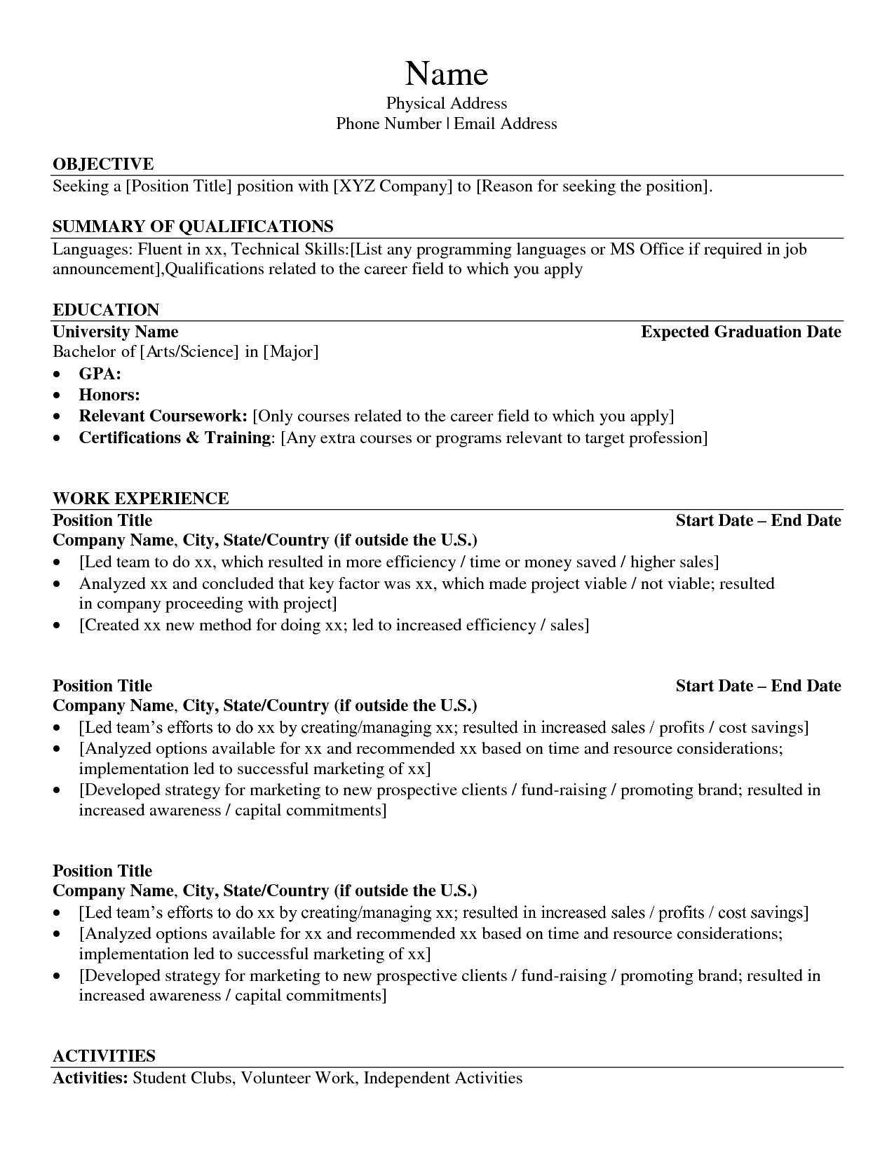 List Skills Put Resume Templates Template Builder Examples