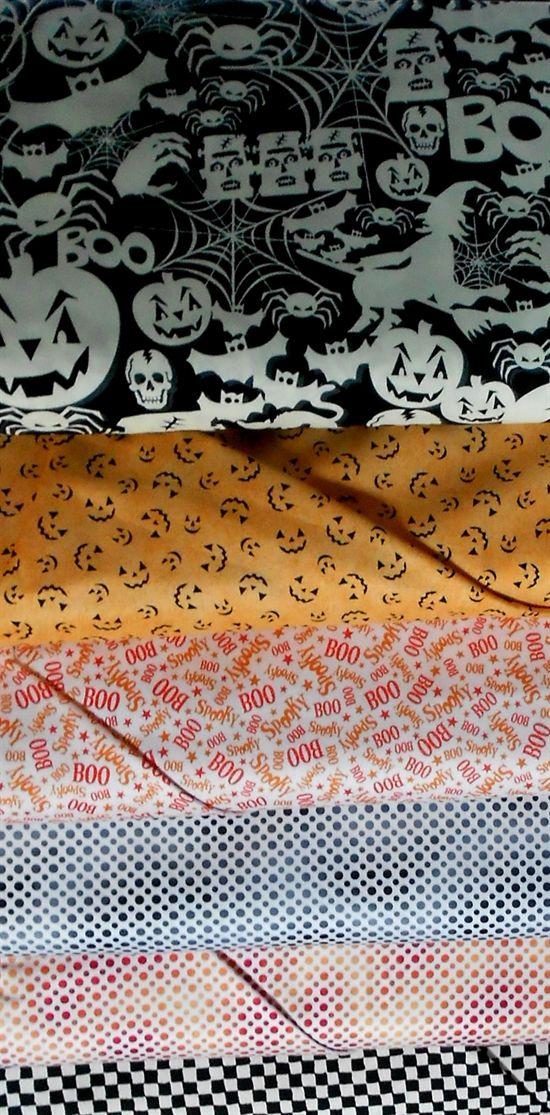 New Halloween Fabrics at Robin's Nest fall 2015 www.robinsnestquilts.com