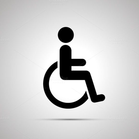 Disabled Handicap Simple Black Icon Object Photography Icon Object Drawing