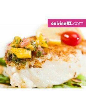 Flétan grillé à la mangue et sauce basilic pour 6