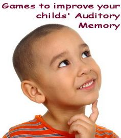 Fun games to help develop children's auditory memory. Great Speech Therapy Resources and ideal for Circle Time
