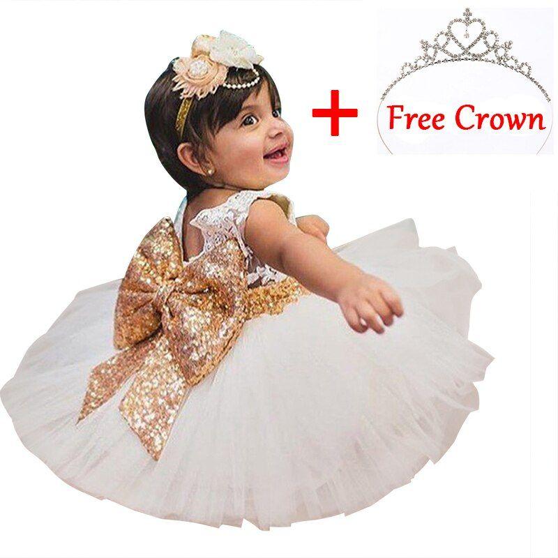 Baby Girls Dress Jumpsuit Clothing Tutu Party Summer Bow-knot Lace Sundress Set