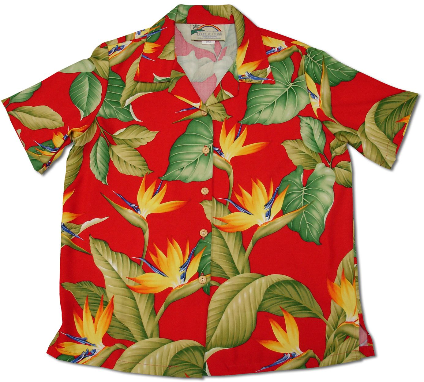 2484c4d0 Paradise Found creators of fine Hawaiian style clothing with many Men's and  Women's matching outfit prints. Hand made for over 50 years. 100% Rayon .