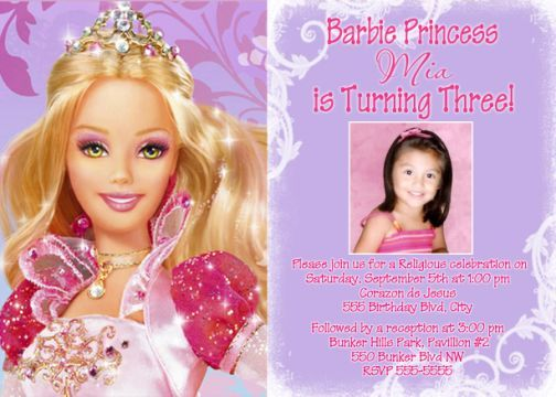 Free Barbie Birthday Invitations Ideas Bagvania Invitation