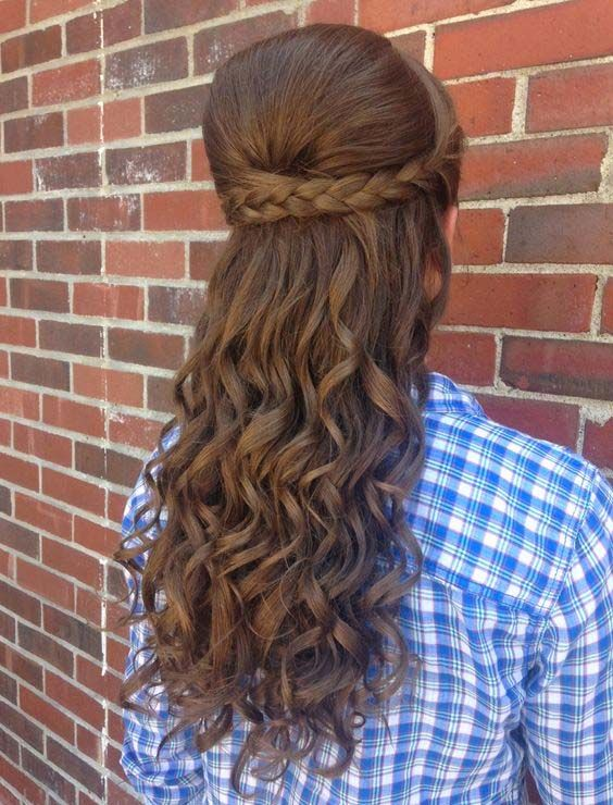 Curly Braided Bump Romantic Updo Hairstyle 2016 Latest Hairstyle