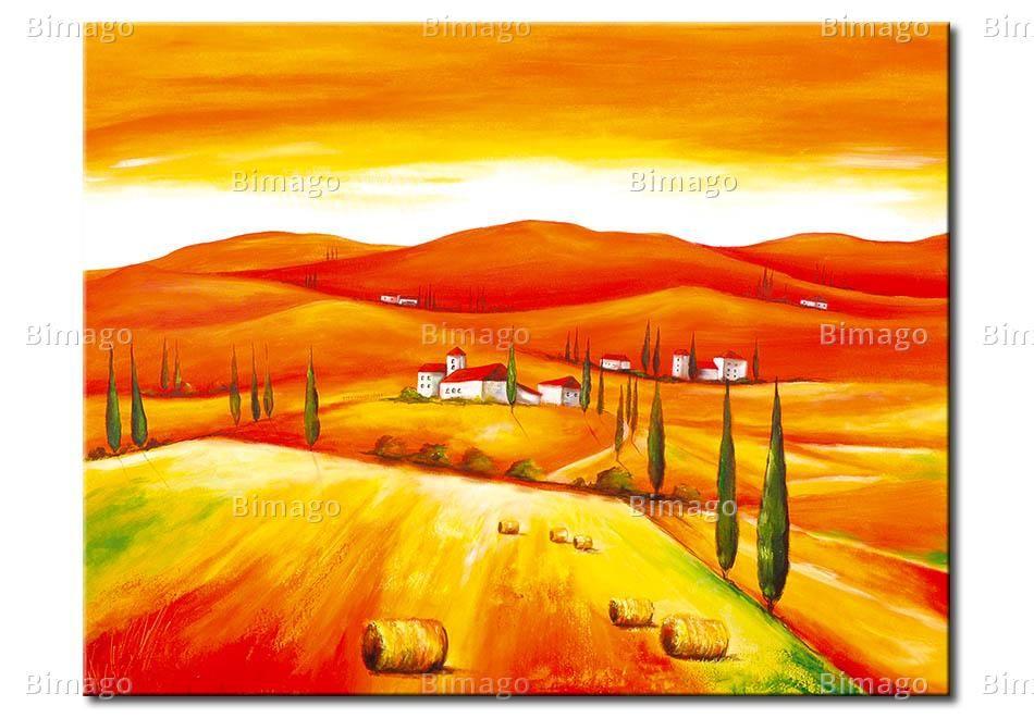 Cadre mural Champs de la Toscane II