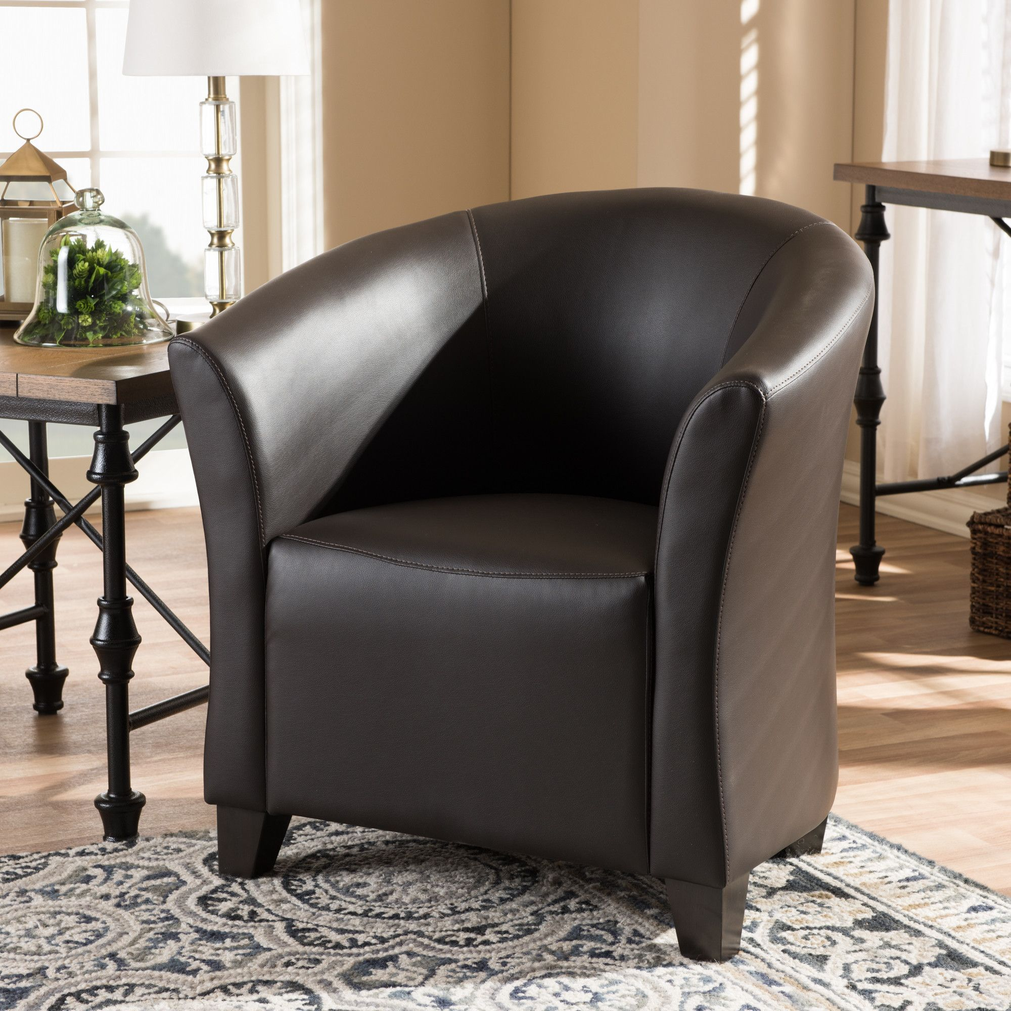 Calla 315 wide barrel chair upholstered accent chairs