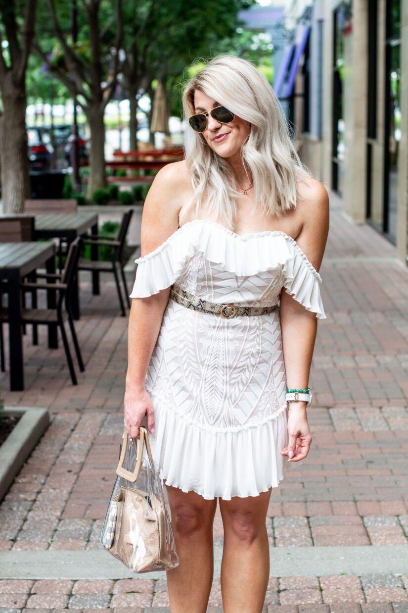 White Vici Wedding Dress Snakeskin Le Stylo Rouge Dresses Little White Dresses Vici Dress [ 1238 x 825 Pixel ]