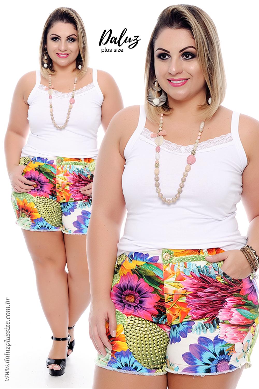26a850bb6 Shorts Jeans Plus Size Marietta - Coleção Primavera Verão Plus Size -  daluzplussize.com.br