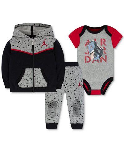 info for 85b9c 013df Jordan Baby Boys' 3-Pc. Speckle Hoodie, Bodysuit & Pants Set ...
