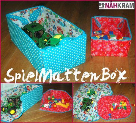 Spielmattenbox, spielzeugbox, spielteppich, Spielzeug Box/ Matte ...