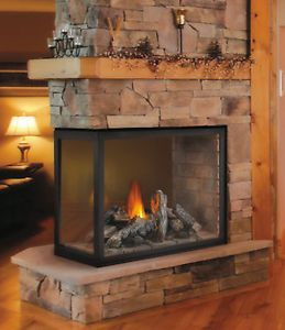 Napoleon Direct Vent Peninsula Gas Fireplace Clean Face Hd4 3 Sided Pier Clean Fireplace Gas Fireplace Wood Fireplace