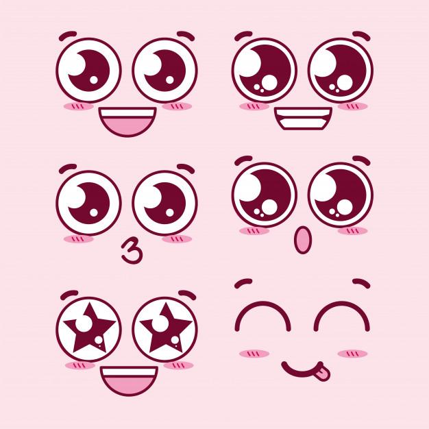 Kawaii Eyes Expression Faces Cute Eyes Drawing Cute Cartoon Faces Eye Expressions