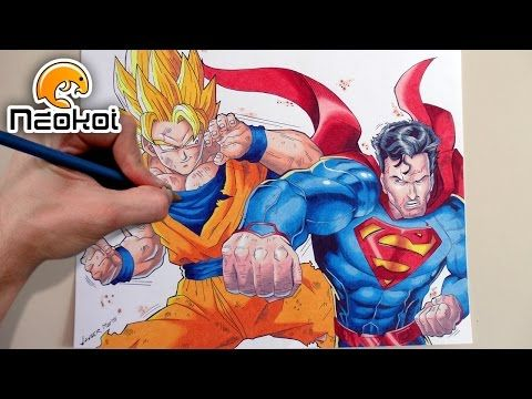 dibujando a goku vs superman drawing goku vs superman youtube