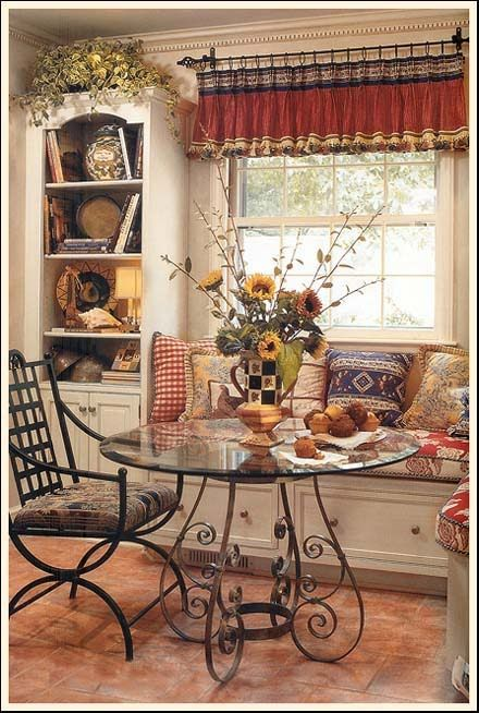 Charming Breakfast Nook Beautiful Country Table And Setting But