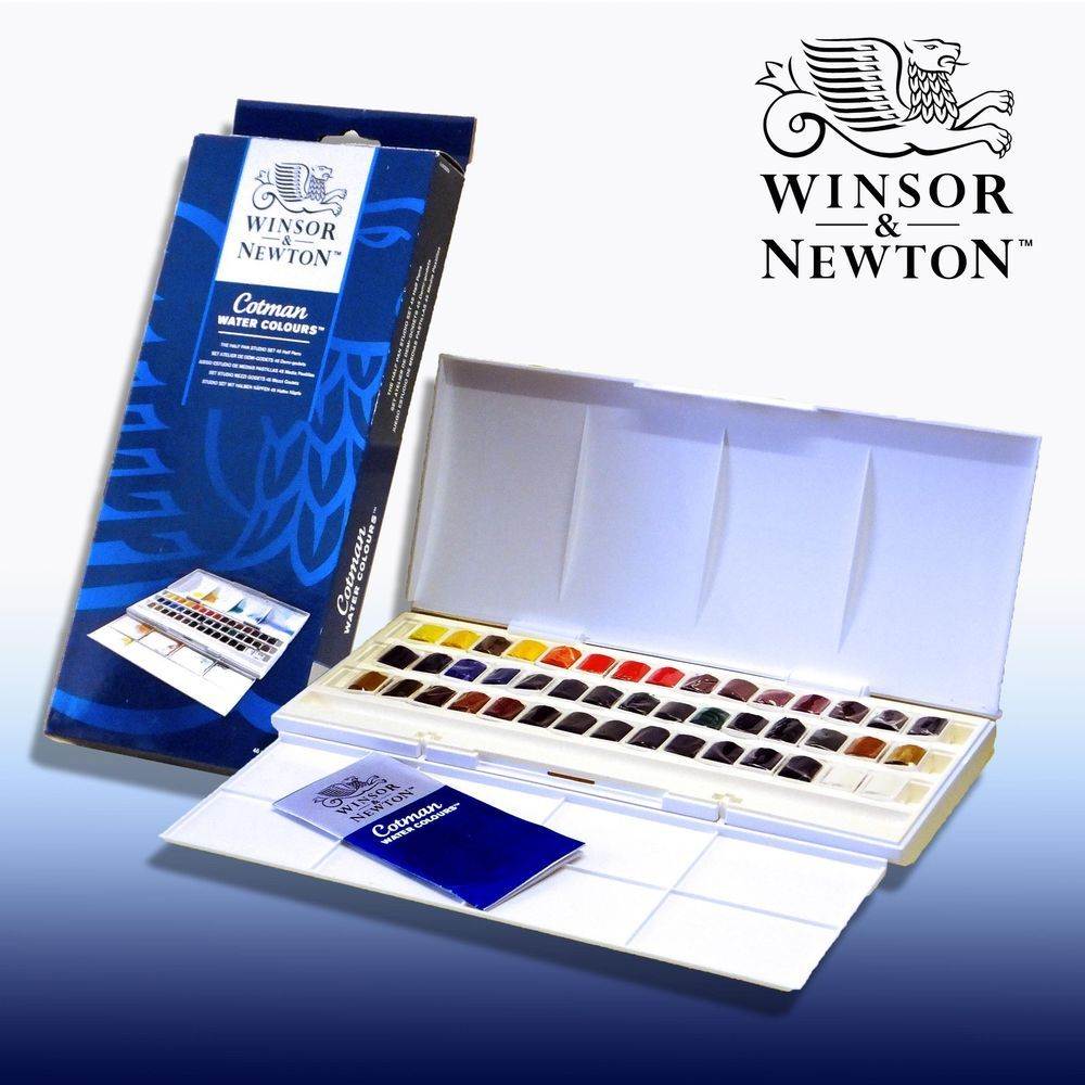 Winsor And Newton Cotman 45 Half Pan Watercolour Set Watercolor