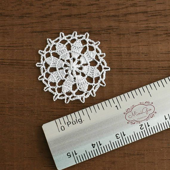 Miniature crochet round doily - 1:12 dollhouse miniature – Accessory ...