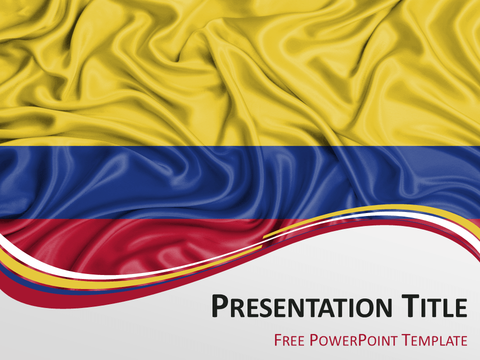 Colombia flag powerpoint template presentationgo colombia free powerpoint template with flag of colombia background toneelgroepblik