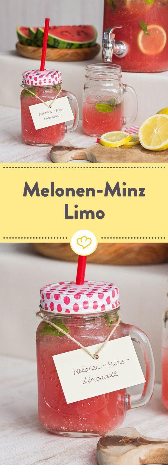Melonen-Minz-Limonade #mintdrink