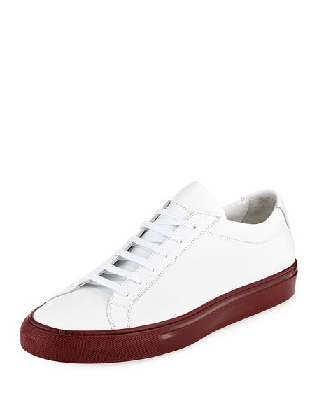 Get free shipping on Common Projects Men s Achilles Leather Low-Top Sneakers  with Shiny Sole 91927f0b1000