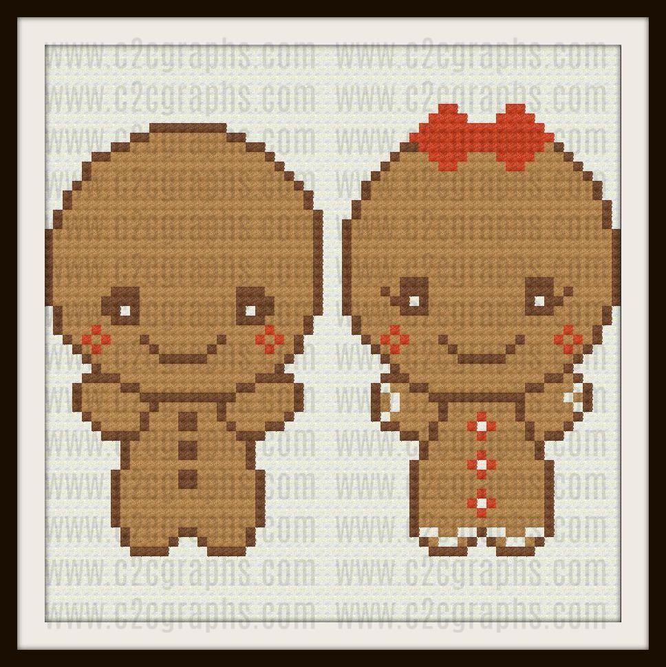 Gingerbread Babies Baby Afghan, C2C Graph, Baby Gingerbread Afghan ...