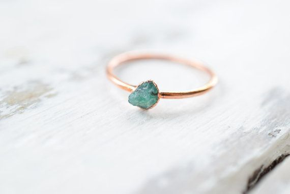 24 Raw Stone Engagement Rings for NonTraditional Brides  Trauringe   24 Raw Stone Engagement Rings for NonTraditional Brides  Trauringe