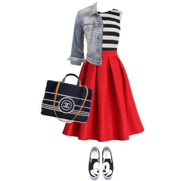 Untitled #3309 by linda56draco on Polyvore featuring polyvore, fashion, style, Oasis, Silver Jeans Co., Chicwish and Chanel