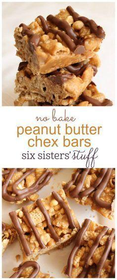 Keine Erdnussbutter Chex Bars backen