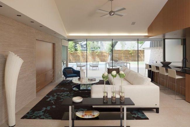 led deckenbeleuchtung wohnzimmer dachschräge akzent | Living Room ...
