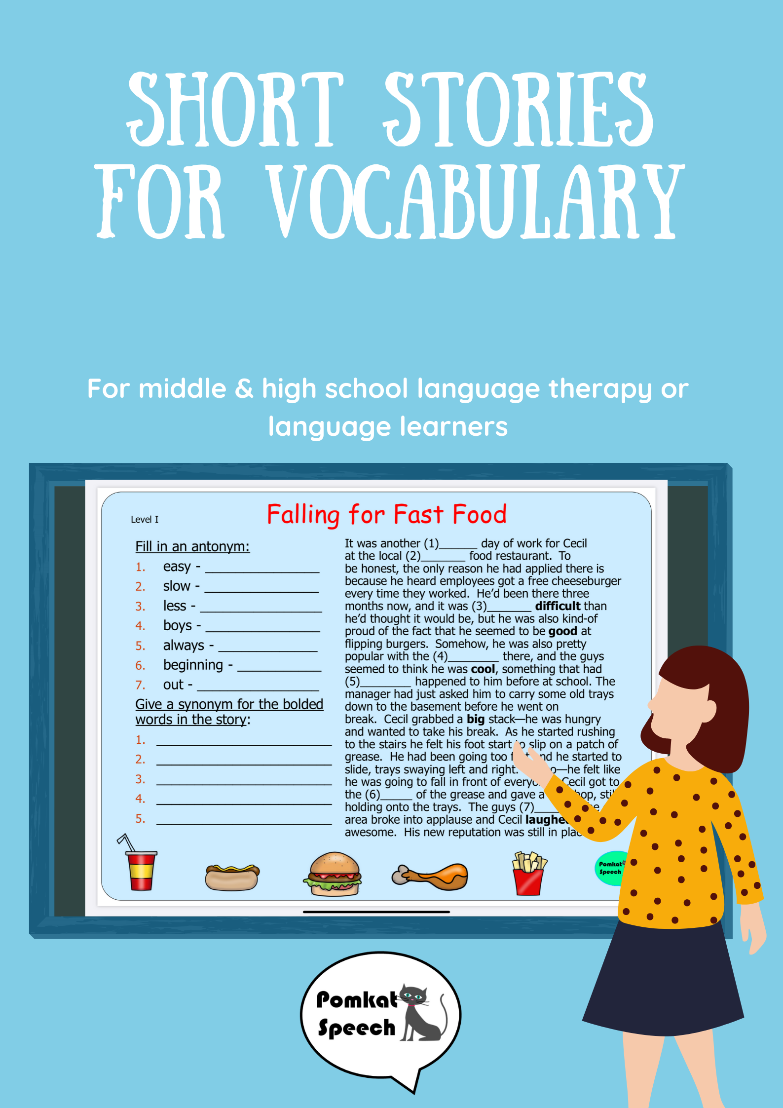 Short Stories For Vocabulary For Middle Amp High School In