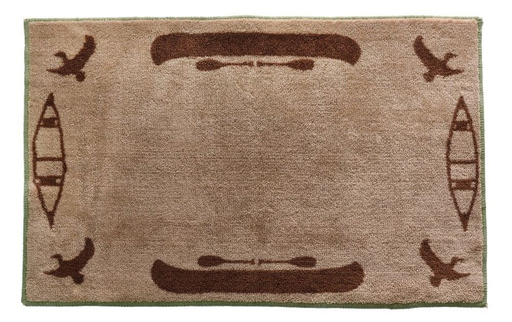 Durable Multi Color Acrylic Bath Rug With Non Skid Latex Backing 24