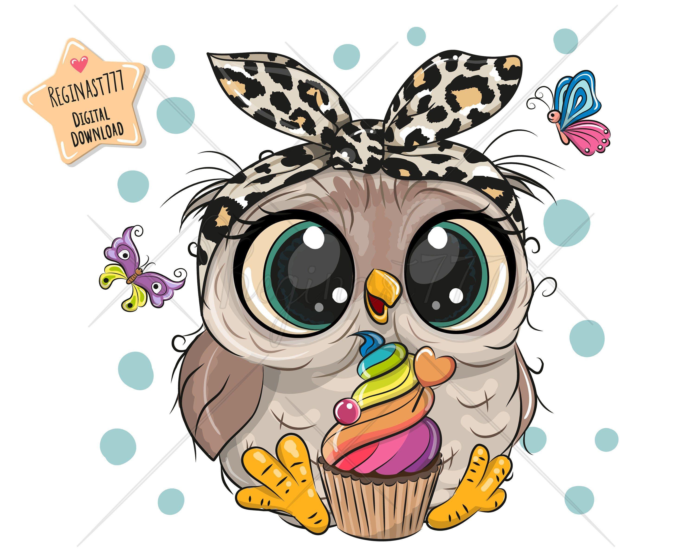 Cute Owl Png Digital Download Owl Clipart Sublimation Etsy Owl Clip Art Cute Owl Cartoon Cute Owl