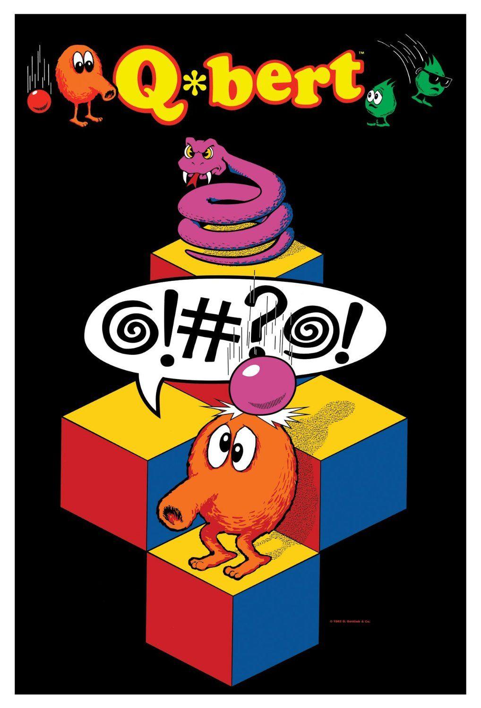 Qbert Artwork Jpg 1 018 1 500 Pixels Vintage Video Games Video Game Posters Arcade Games