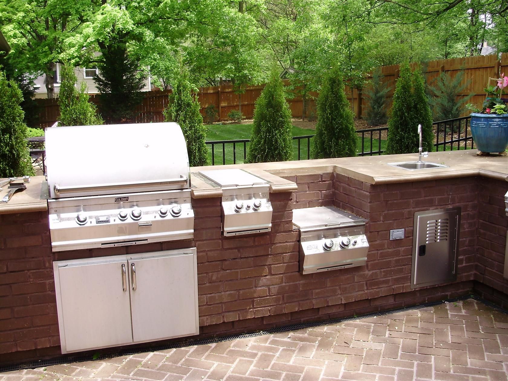 Cheap Outdoor Kitchen Ideas HGTV 17 Best Images About Outdoor – Brick Outdoor Kitchen