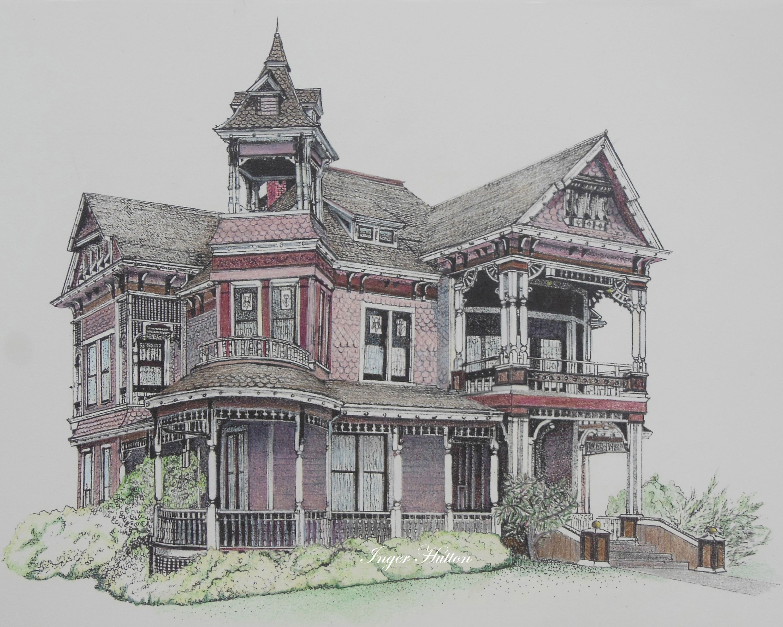Victoria BC Colored Pencil Drawings