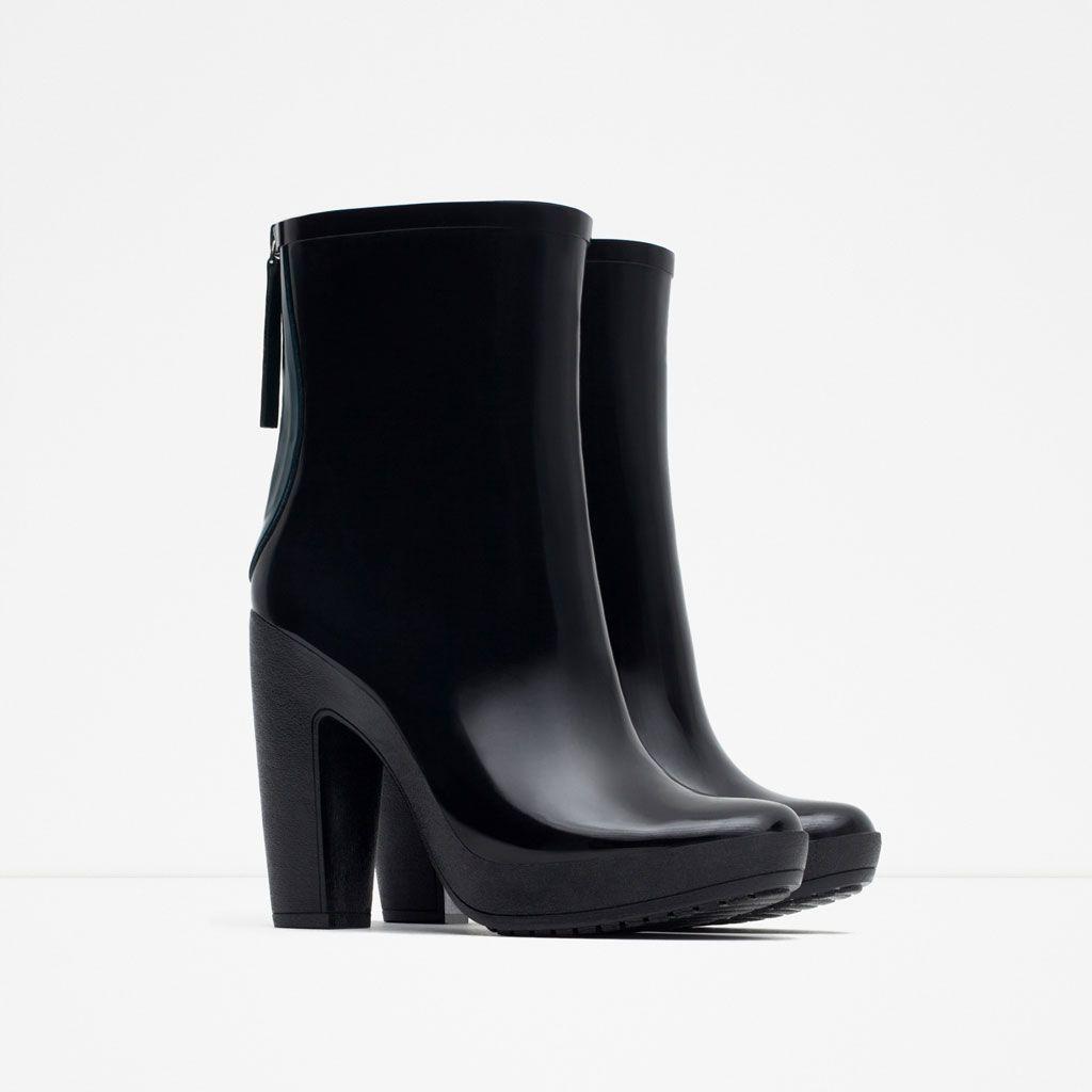 725e1686ce2 10 31 15  HEELED RAIN BOOTIES  YES!  119 from Zara.com