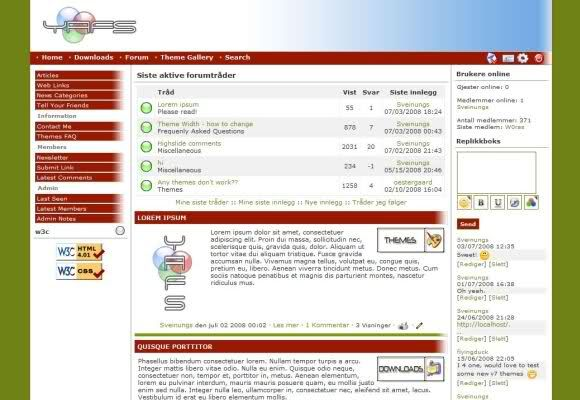 Red Green Php Fusion Theme - Phpfusion Themes #php #fusion - php templates