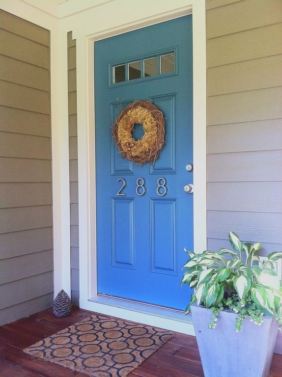 Traditional Front Door - Find more amazing designs on Zillow Digs! Corner trim treatment