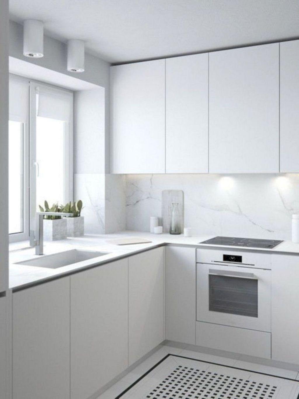 20 + unglaubliche kleine weiße küche design-ideen für