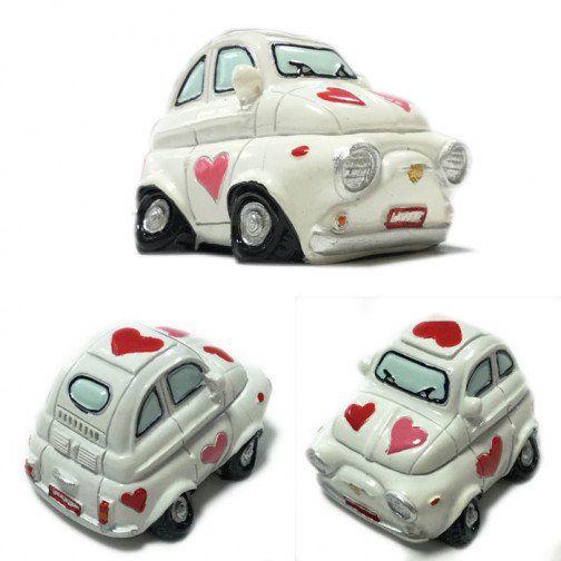 Bomboniere Matrimonio Fiat 500.Bomboniera Fiat Cinquecento 500 Con Cuori Idea Originale