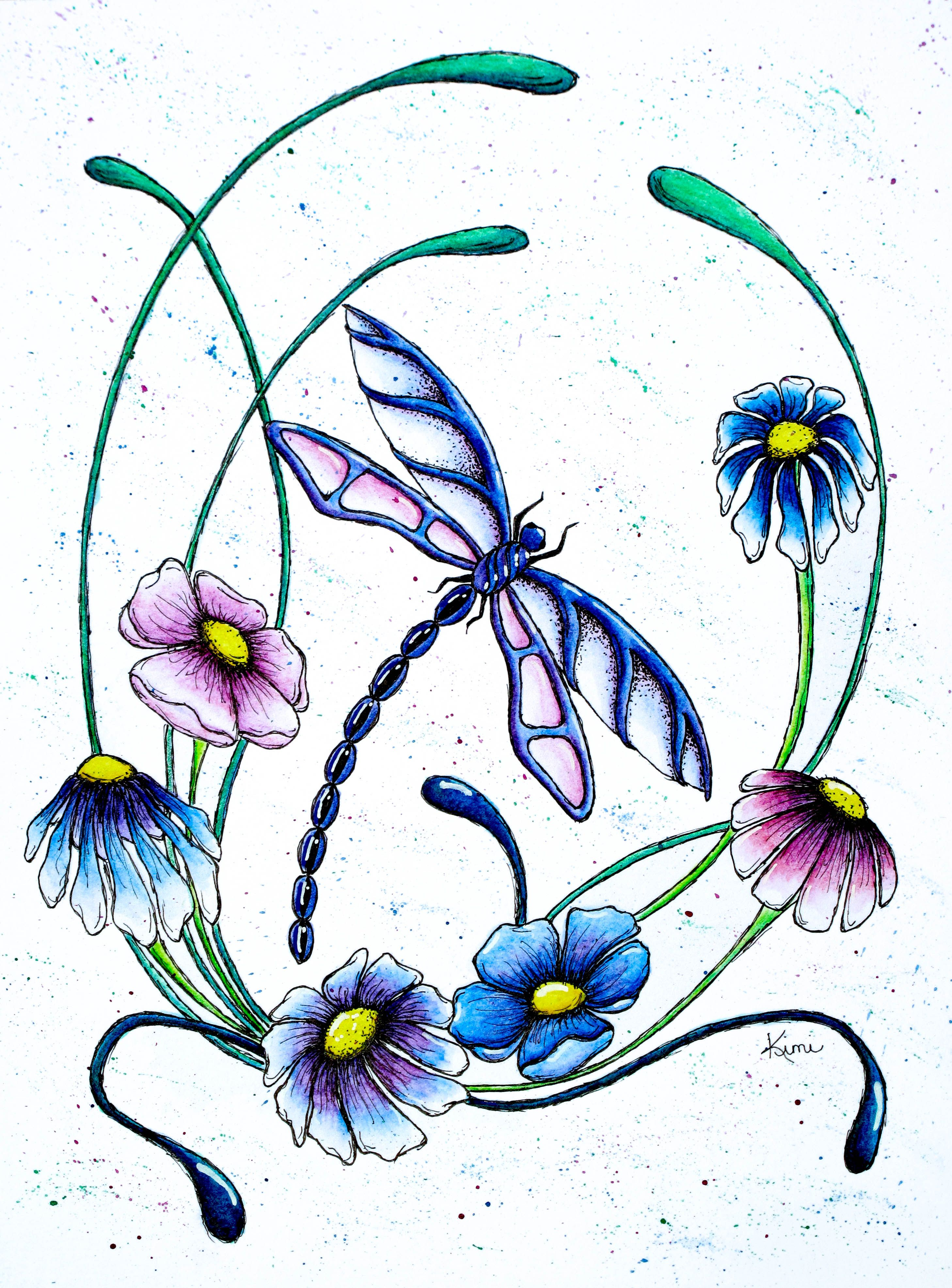 Dragonfly and Spring Flowers | Inspiration ...