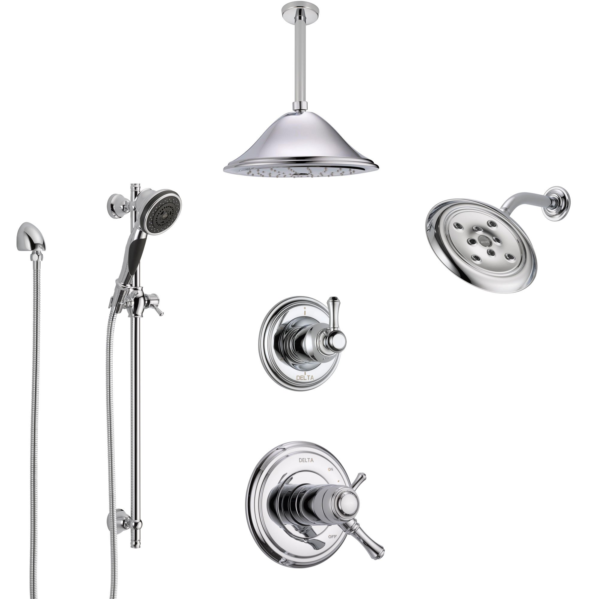 Delta Cassidy Chrome Shower System With Dual Thermostatic Control