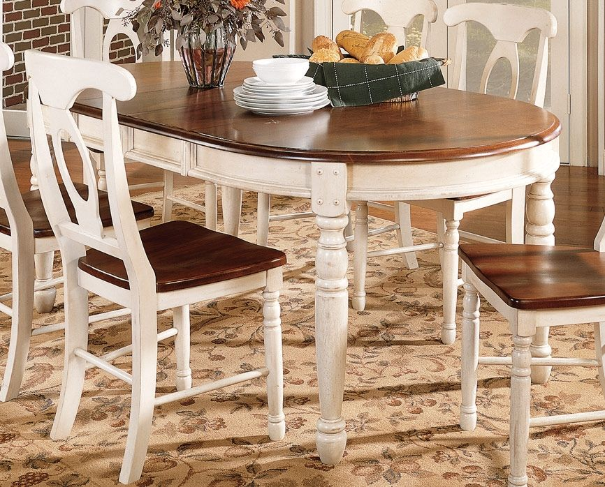 """Dining Room Furniture - British Isles Dining Table w/ Two 12"""" Table Leaves"""