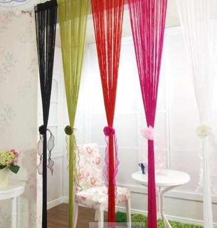 cortinas de hilos  interiores  Curtains Panel doors y