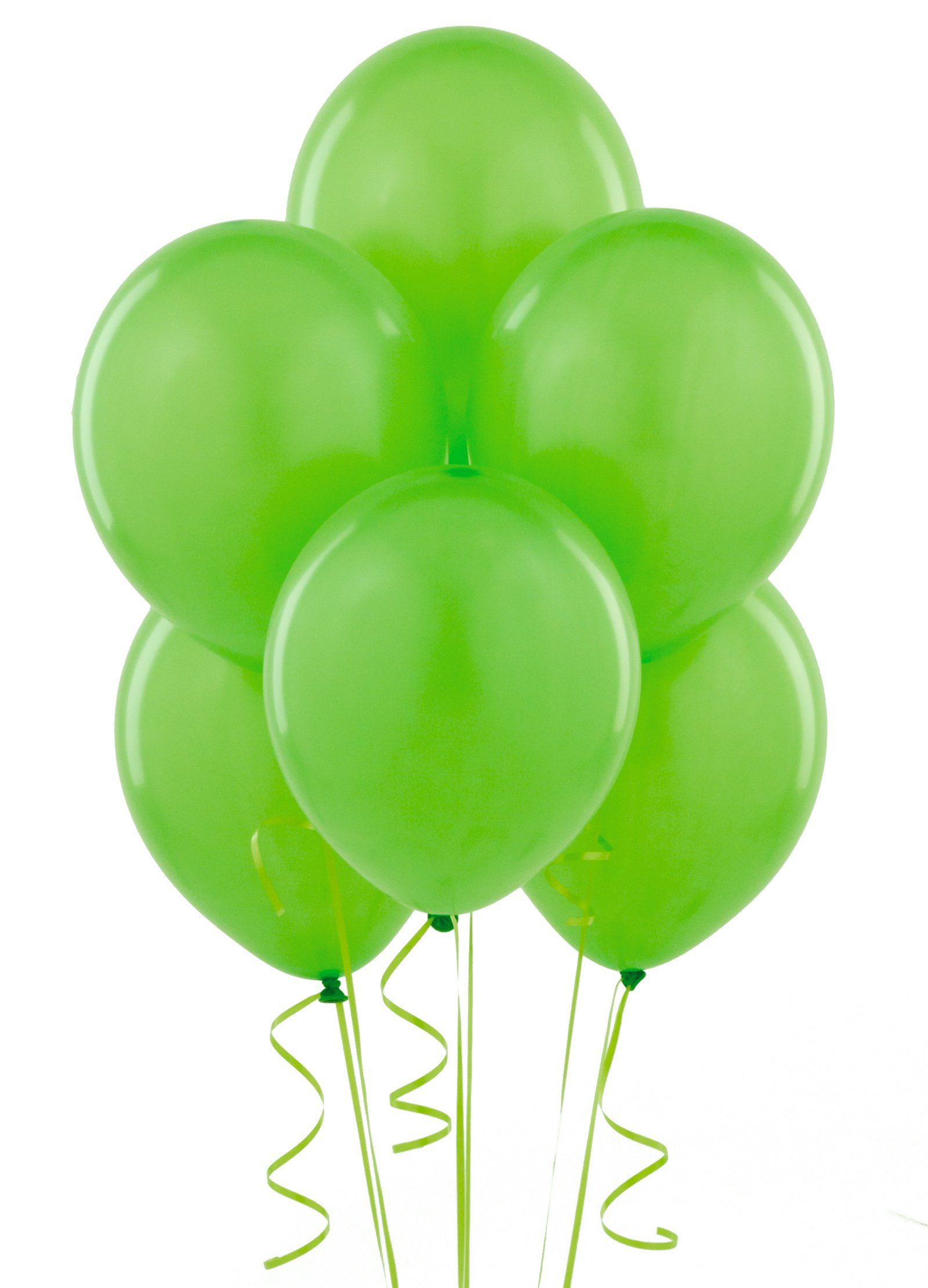 Green and blue balloons - Fresh Lime Lime Green Balloons 6