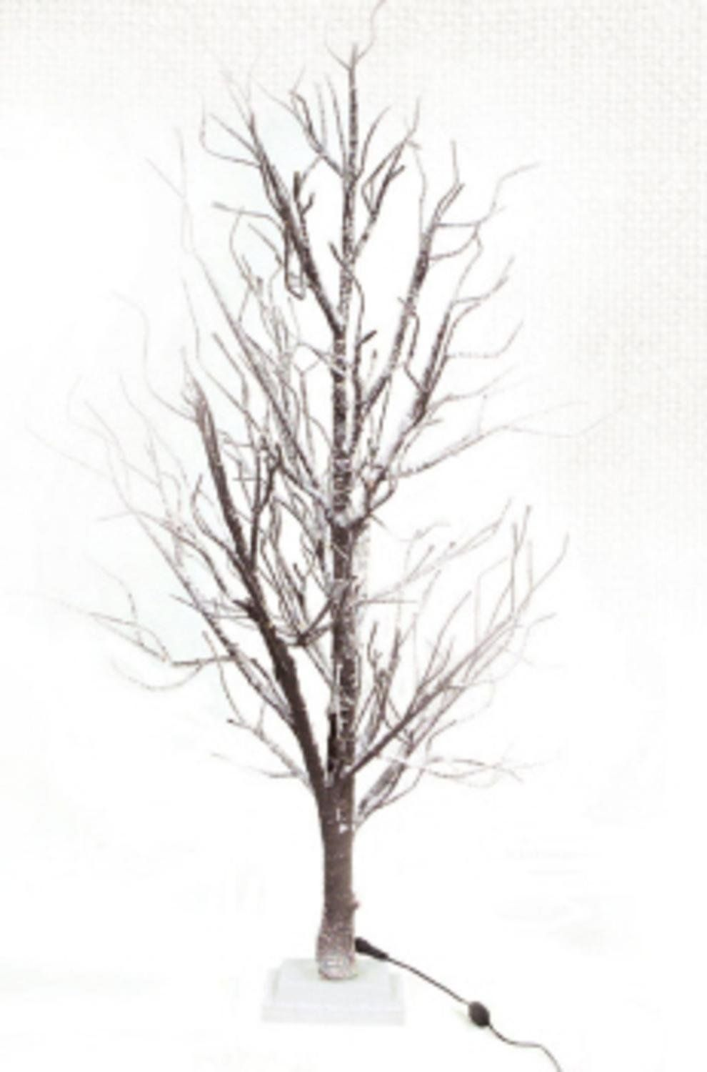 4' LED Lighted Frosted Brown Twig Tree Table Top